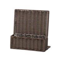 【最小購入数3個】PPラタン250ブラウンシリーズ パンフレット多目的スタンド RCS-101 ダークブラウン