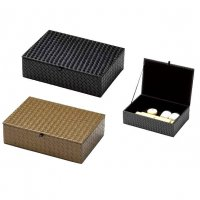 【最小購入数3個】メッシュレザータッチシリーズ アメニテイ&多目的ボックス(ふた付) AT-330 ブラック/ブラウン