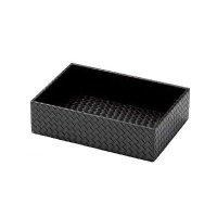 【最小購入数3個】メッシュレザータッチシリーズ アメニテイ&多目的ボックス AT-332 ブラック/ブラウン
