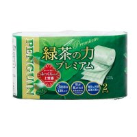 【最小購入数10ケース】ペンギン ティーフラボン緑茶の力 プレミアム トリプル 20m 【72ロール入り】(2ロール×36袋)
