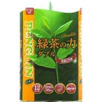 【最小購入数10ケース】ペンギン ティーフラボン 緑茶の力 ダブル 35m 【72ロール入り】(12ロール×6袋)