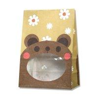 【ケース販売】 紙袋 窓付袋 パックンバッグ S1F クマ 【2,000枚入り】