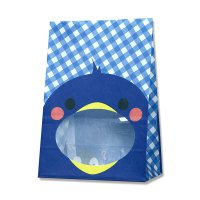 【ケース販売】 紙袋 窓付袋 パックンバッグ S1F ペンギン 【2,000枚入り】