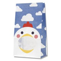 【ケース販売】 紙袋 窓付袋 パックンバッグ No.4 ニワトリ 【2,000枚入り】