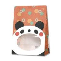 【バラ販売】紙袋 窓付袋 パックンバッグ S1F パンダ 【50枚入り】