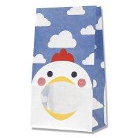 【バラ販売】紙袋 窓付袋 パックンバッグ No.4 ニワトリ 【50枚入り】