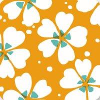 遊膳 CO-H09 花コースター 芝桜 橙 【100枚入り】