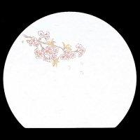 遊膳 WH-9 抗菌尺三半月まっと 桜 【100枚入り】