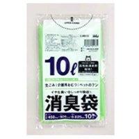 HHJ AS15 消臭袋 10L グリーン半透明 0.025 【800枚入り】(10枚×80冊)