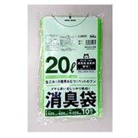 HHJ AS25 消臭袋 20L グリーン半透明 0.025 【600枚入り】(10枚×60冊)