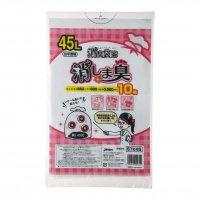 ジャパックス STK45 消臭袋策 消しま臭 白半透明 0.020 【600枚入り】(10枚×60冊)