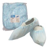 【新規受注停止中】バリアローブ No.2792 PEシューズカバー ブルー 50枚入り×20袋【1,000枚】