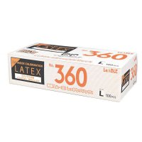 【新規受注停止中】No.360 ラテックス ノンパウダー 指先エンボス L 【2000枚入り】(100枚×20箱)