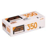 【新規受注停止中】No.350 ラテックス ノンパウダー ロング エンボス S 【2000枚入り】(100枚×20箱)