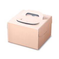 ケーキ箱 H130 PFB ピンク 4.5号/5号/L6号 【100枚入り】