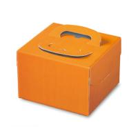 ケーキ箱 H130 PFB オレンジ 4.5号/5号/L6号 【100枚入り】