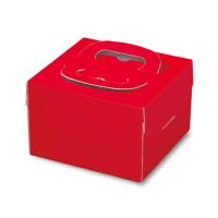 ケーキ箱 H130 PFB レッド 4.5号/5号/L6号 【100枚入り】