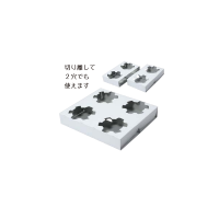 カップホルダー4穴 ミシン目付 【400枚入り】(100枚×4束)