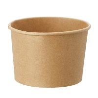 【品薄のため納期かかることがございます】HEIKO アイスカップ 5オンス(約200ml) クラフト 本体/蓋 50個×20【1000個】