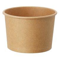 HEIKO アイスカップ 10オンス(約300ml) クラフト 本体/蓋 【1000個入り】(50個×20)