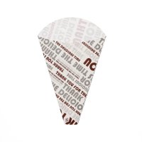 HEIKO クレープ三角袋 デリシャスタイム ブラウン 100枚×30【3000枚】