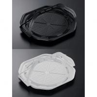 持ち手付きピザ容器 CT WRP 10インチ 黒BK/白W 身/蓋 【200個入り】(25個×8)