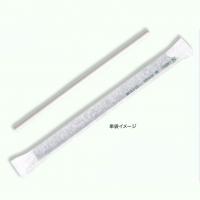 紙ストロー 6mm×210mm 平口 白 単袋 【2000本入り】(500本×4)
