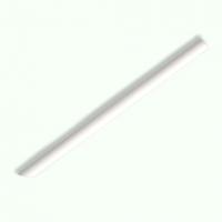 紙ストロー 12mm×210mm 斜口 白 裸 【1800本入り】(300本×6)