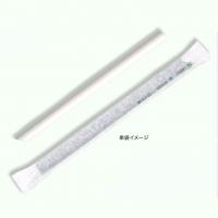 紙ストロー 12mm×210mm 斜口 白 単袋 【1800本入り】(300本×6)