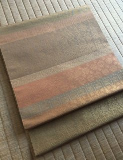 織悦謹製 名物裂文様 侘・寂の世界観 袋帯