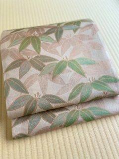 洛風林謹製 笹文 袋帯