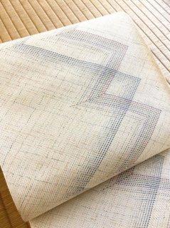 滋賀喜織物謹製 正倉院平組 八寸名古屋帯