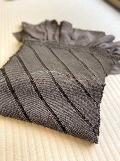 総絞り 鈍色斜め縞 兵児帯