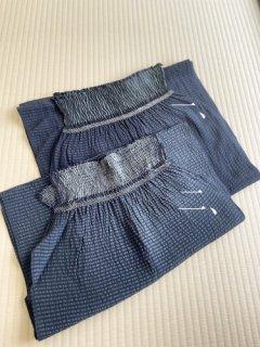 藤井絞謹製 変わり織縞 夏の兵児帯 二種