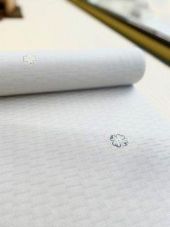 染めの小阪謹製 小紋 白銀地 華紋