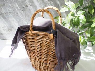かごバッグ用 リネンストールカバー<br/>【gray】