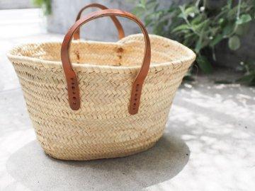 平革縫いマルシェかごバッグ【S】