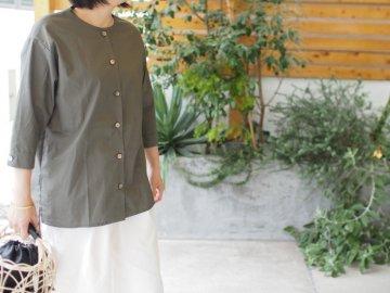 Emouvoir【Devant】シンプルシャツ・gray khaki