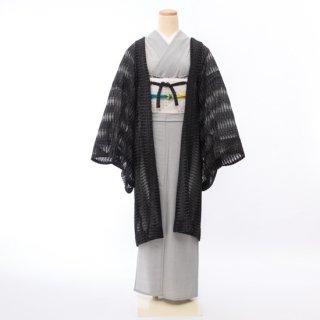 ラメレース羽織(ブラック)