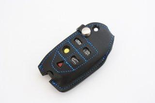 ERST(エアスト) ボルボ専用 栃木レザー キーカバー B-タイプ カラー:ブラックxブルー LKC-V70-B-BKBL