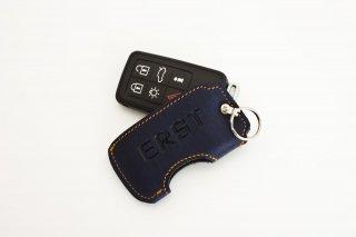 ERST(エアスト)ボルボ専用 レザーキーカバー C-タイプ カラー:ERST COLOR(ダークブルー) LKC-E-C-DBOR