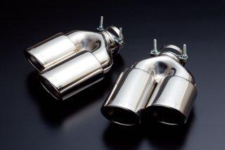ERST(エアスト)ボルボ専用V60/S60(FB) 2011~, XC60(DB) 2010~ 94φデュアルテール マフラーカッター(ERSTリアスカート用)