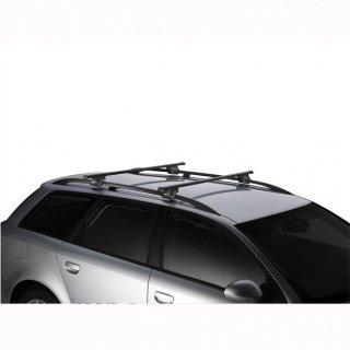 THULE(スーリー) ベースキャリア 新スクエアバー・フット・専用取付キット V60・V60クロスカントリー用 3点SET