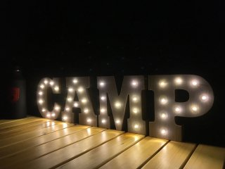 WOODEN MARQUEE LIGHT SET (CAMP)