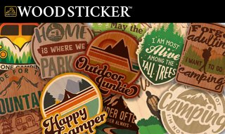 WOODSTICKER ウッドステッカー OUTDOOR キャンステ MADE IN USA