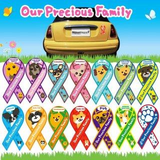 RibbonMagnet(リボンマグネット) Our Precious Family OPF うちの子