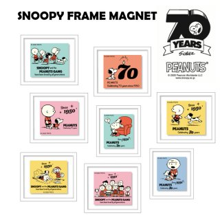 FrameMagnet(フレームマグネット) SNOOPY PEANUTS 70YEARS スヌーピー ピーナッツ 1950