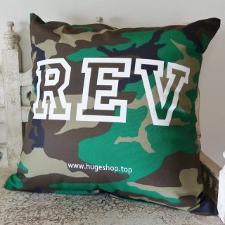 MR.HUGE REV POSITIONING PRINTED CUSHION(リバ ポジション プリント クッション)