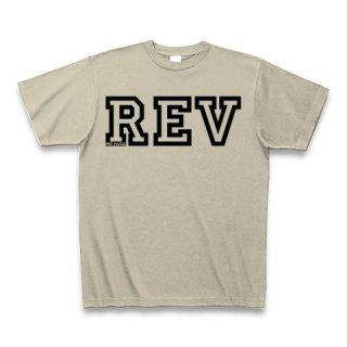 MR.HUGE REV POSITIONING COLLEGE ROGO PRINTED (リバ ポジショニング カレッジ ロゴ プリント)Tシャツ ベージュ