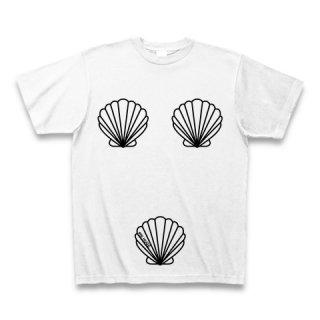 MR.HUGE TRIO SHELLFISH PRINTED (トリオ 貝殻 プリント)Tシャツ ホワイト